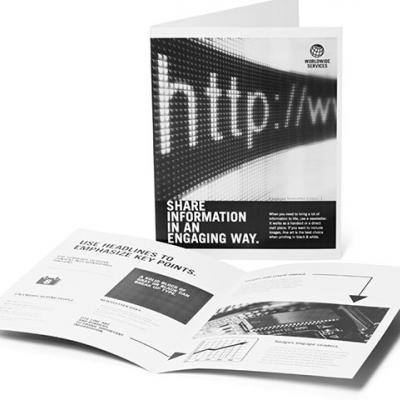 Брошюры и каталоги черно-белая печать
